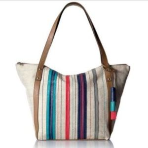 Relic Penelope Large Tote Striped Tropical Coral